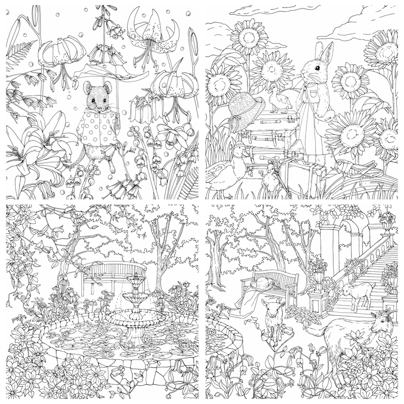 - Rhapsody In The Forest Coloring Book (Menuet De Bonheur II) – Kayliebooks