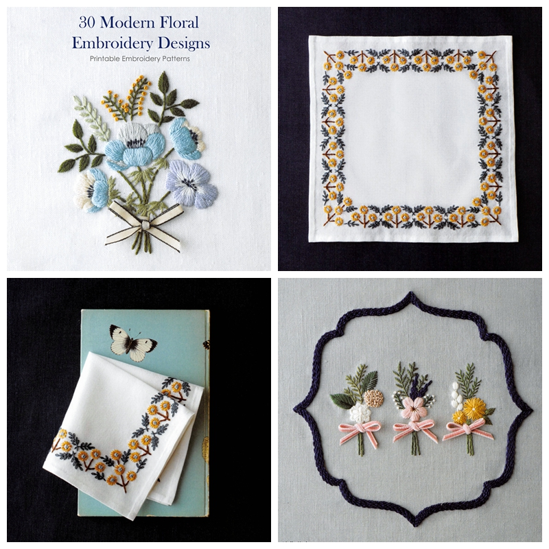 30 Modern Floral Embroidery Designs Kayliebooks